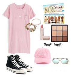"""School glam"" by victoriapond on Polyvore featuring J.Crew, Converse, Kendra Scott, Lizzy James, Lipstick Queen, Morphe and Violet Voss"