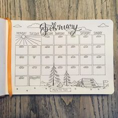 It's February so naturally my theme for the month is . . . Tigers!  #bulletjournal #bulletjournaling #bulletjournalcommunity #bulletjournalspread #bulletjournalsetup #bujo #bujospread #bujosetup #februaryspread #planner #calendar #tigers #february