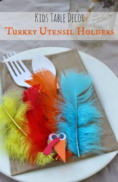 turkey utensil pocket Thanksgiving craft