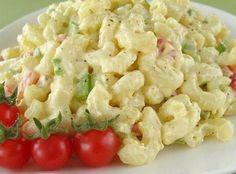 Delicious Macaroni Salad Recipe Easy Macaroni Salad, Macaroni Recipes, Pasta Recipes, Salad Recipes, Yummy Recipes, Crab Rangoon Dip, Dinner Salads, Deviled Eggs, Stuffed Green Peppers