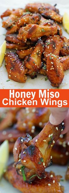 Honey Miso Chicken Wings – sweet and savory Japanese-flavored chicken wings with miso and honey. So good you can't stop eating | rasamalaysia.com