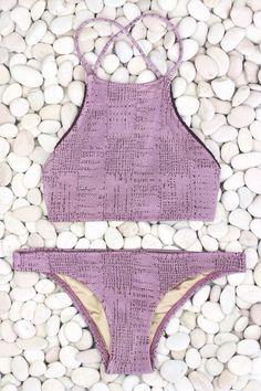 'coral' halter bikini #madebydawn