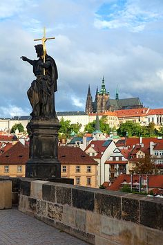 The Charles Bridge, Prague, Czech Republic    #travel