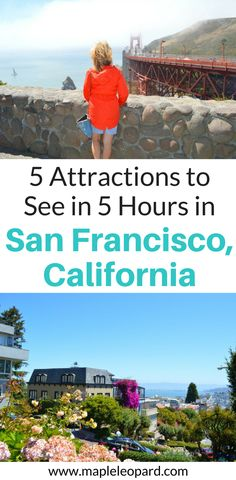 There are so many things to do in San Francisco, California but what happens if you don't have a lot of time? Check out these 5 things you can see on a day trip to San Francisco. Don't forget to save this San Francisco Day trip guide to your travel board so you can find it later.