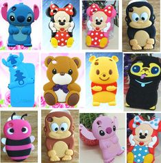 ebay cases for ipod4 | 1x 3D Cute Cartoon Animal Silicone Case Cover For iPod Touch 4 4G 4th ...