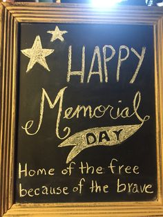 memorial day chalk art