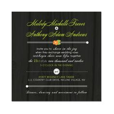 Country Woods Wedding Invitation Theme -  $149.00 for 100 invitations