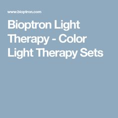 Bioptron Light Therapy - Color Light Therapy Sets