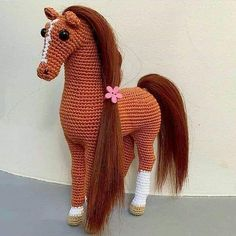 We continue to share beautiful amigurumi crochet pattern. The most beautiful amigurumi knitting toy models have wonderful amigurumi horse patterns in order.We have put together all of the most beautiful amigurumi knitting dolls and animal models for Crochet Pony, Crochet Horse, Crochet Unicorn, Cute Crochet, Crochet Amigurumi Free Patterns, Crochet Animal Patterns, Crochet Animals, Double Crochet Decrease, Horse Pattern