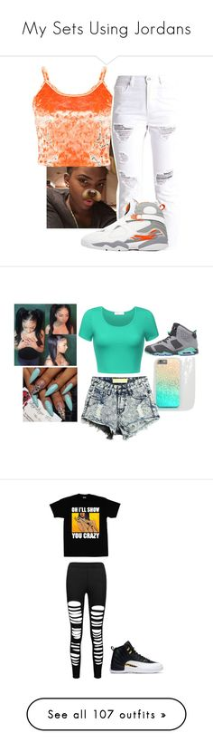 """My Sets Using Jordans"" by zyriajones ❤ liked on Polyvore featuring Retrò, NIKE, Casetify, BP., Michael Kors, Off-White, Alexander Wang, AK Anne Klein, Roberto Coin and Anne Klein"