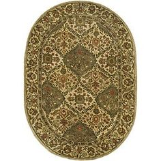 Shop for Safavieh Handmade Tabriz Beige/ Olive Wool Rug (4'6 x 6'6 Oval). Get free shipping at Overstock.com - Your Online Home Decor Outlet Store! Get 5% in rewards with Club O! - 12680096