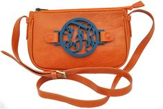The Zoey Crossbody...love, love love my purple and gold for the PIRATES, but would also love the orange with tortoise shell monogram too :)! Auburn Game, Monogrammed Purses, Laser Cut Jewelry, Day Bag, Cute Purses, Fancy Pants, Saddle Bags, Gift Bags, Auburn University