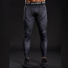 Swipe through adversity with these limited edition moisture wicking Black Panther Compression Pants today! Wear-Resistant UV Protection Breathable Quick-Dry Moisture Wicking NOTE: These run small so it's best to order 1 size up than your normal US size. Mens Workout Leggings, Workout Pants, Printed Leggings, Women's Leggings, Tights, Crossfit Men, Crossfit Equipment, Compression Pants, Gym Tops