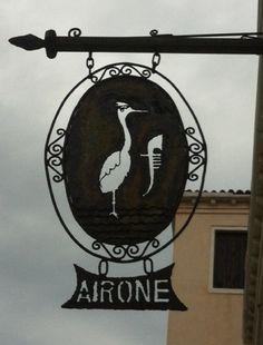 Hotel sign in Venice.