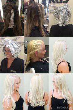 Olaplex. Blonde. Platinum. Before/after.