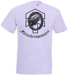 T-Shirt Fallschirmpioniere mit Adler und Kranz in der Farbe grau / mehr Infos auf: www.Guntia-Militaria-Shop.de