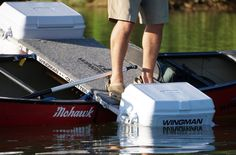 Wingman Outfitter design and manufacture custom canoe outriggers using coolers for stability. Canoe Camping, Canoe Trip, Canoe And Kayak, Kayak Fishing, Fishing Boats, Kayaks, Canoe Cooler, Canoe Stabilizer, Kayak Outriggers