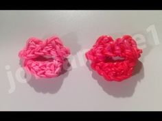 LIPS - Valentine's Day Kiss on any loom. Designed and loomed by Christine Giradi at jordantine1. Click photo for YouTube tutorial.