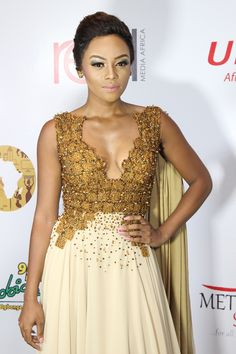Photos:Bonang Matheba, Ebuka Obi-Uchendu, Linda Ikeji & More at The Future Awards Africa 2015 Maid Of Honour Dresses, Maid Of Honor, Celebrity Red Carpet, Celebrity Style, Matric Dance Dresses, Nice Dresses, Dresses For Work, Red Media, How To Look Classy