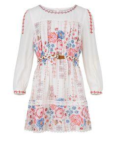 Elysia Rose Dress | White | Monsoon