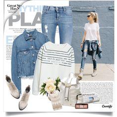 Street style by yexyka on Polyvore featuring MANGO, Zara, STELLA McCARTNEY, Alexander Wang, Dasein, Casetify and Hourglass Cosmetics