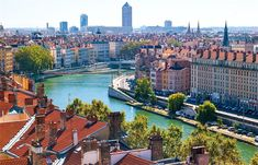 Lyon is a European city within the borders of France, one of the greatest powers of the European Union. The city is among the most important settlements in France, where it is Cool Places To Visit, Places To Travel, Lyon City, Belle France, Voyage Europe, Belle Villa, Rhone, Air France, France Art