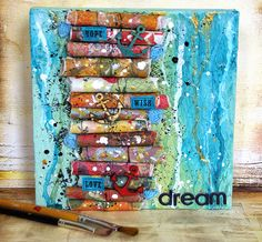 """Dream"" canvas and another simply stencils idea"