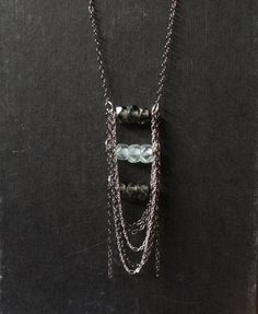 Metallic steps necklace geometric mixed by KristineRagusDesigns, $37.00