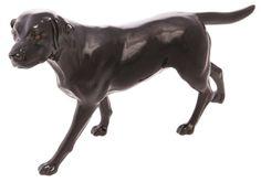 John Beswick Connoisseur Black Labrador Dog Ceramic Figure Ornament 14cm JBCOD1