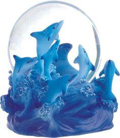 Dolphins Leaping Snow Globe.    Ocean globe