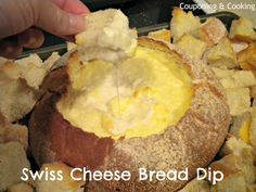Swiss Cheese Bread Dip on MyRecipeMagic.com
