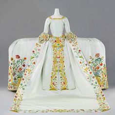 Wedding Mantua | c.1759 — Helena Slicher's wedding gown, which...