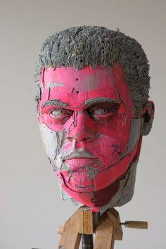 Scott Fife - cardboard, glue, screws and pigment