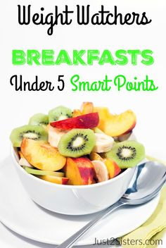 Weight Watchers Breakfasts Under 5 Smart Points. Breakfasts that will start your day off on the right foot! Weight Watchers Breakfasts Under 5 Smart Points