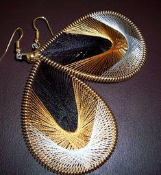thread earrings #DIY
