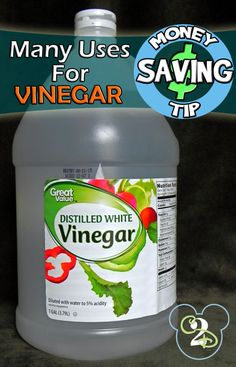 Gotta go to the store and get a big jug of vinegar. There are so many uses for it. I have cleaned my house with it for 9 months and it works great! Loving these other ideas too.