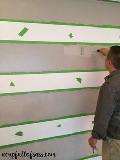 DIY How to paint strike om wall like you did.   ripes on a Wall