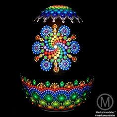 Como hacer mandala en puntos acrilicos   how to draw dots mandala acrylic - YouTube