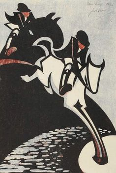Water Jump Print by Sybil Andrews, 1931