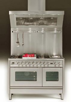 large retro kitchen stove for kitchen decorating in vintage style