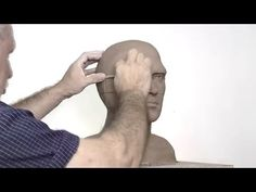 Alexander Cherkov demonstrates male head sculpture of clay - step by step - YouTube