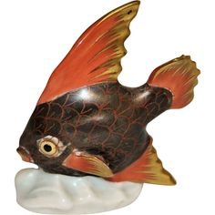 Herend Table Top Fish Figurine from DepotDowns on Ruby Lane. Great price!