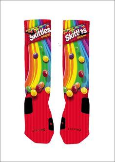 Custom Skittles Candy Socks Custom Nike Elite by NikkisNameGifts, $18.00