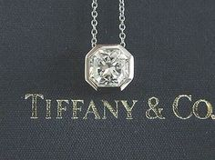Tiffany Co Platinum Lucida Diamond Bezel Set Pendant Necklace 1.58ct E-vvs1. Get the lowest price on Tiffany Co Platinum Lucida Diamond Bezel Set Pendant Necklace 1.58ct E-vvs1 and other fabulous designer clothing and accessories! Shop Tradesy now