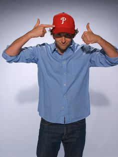 This deserves 2 pins!  Philly's own Bradley Cooper is a Phils fan.
