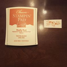 stampin up really rust ink Rust, Stampin Up, Ink, Free, Image, Stamping Up, India Ink