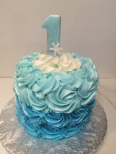 Frozen theme smash cake