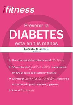 Recomendaciones sencillas para prevenir la diabetes #ifitness #diabetes #DMD2015