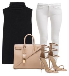Untitled #6 by sirenx on Polyvore featuring polyvore fashion style The Row 7 For All Mankind Yves Saint Laurent