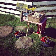 Our roadside shop with honesty  box